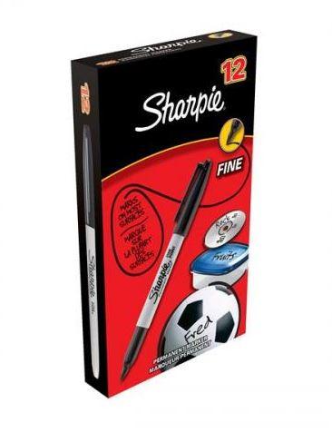 Sharpie Fine permanent 0,9 mm, musta