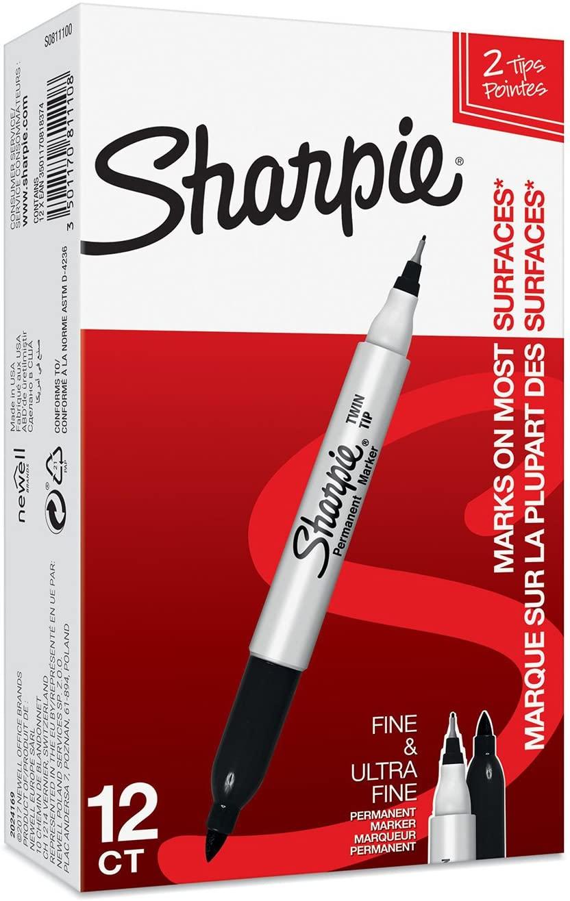 Sharpie Twintip 0,3/1 mm musta, 127511
