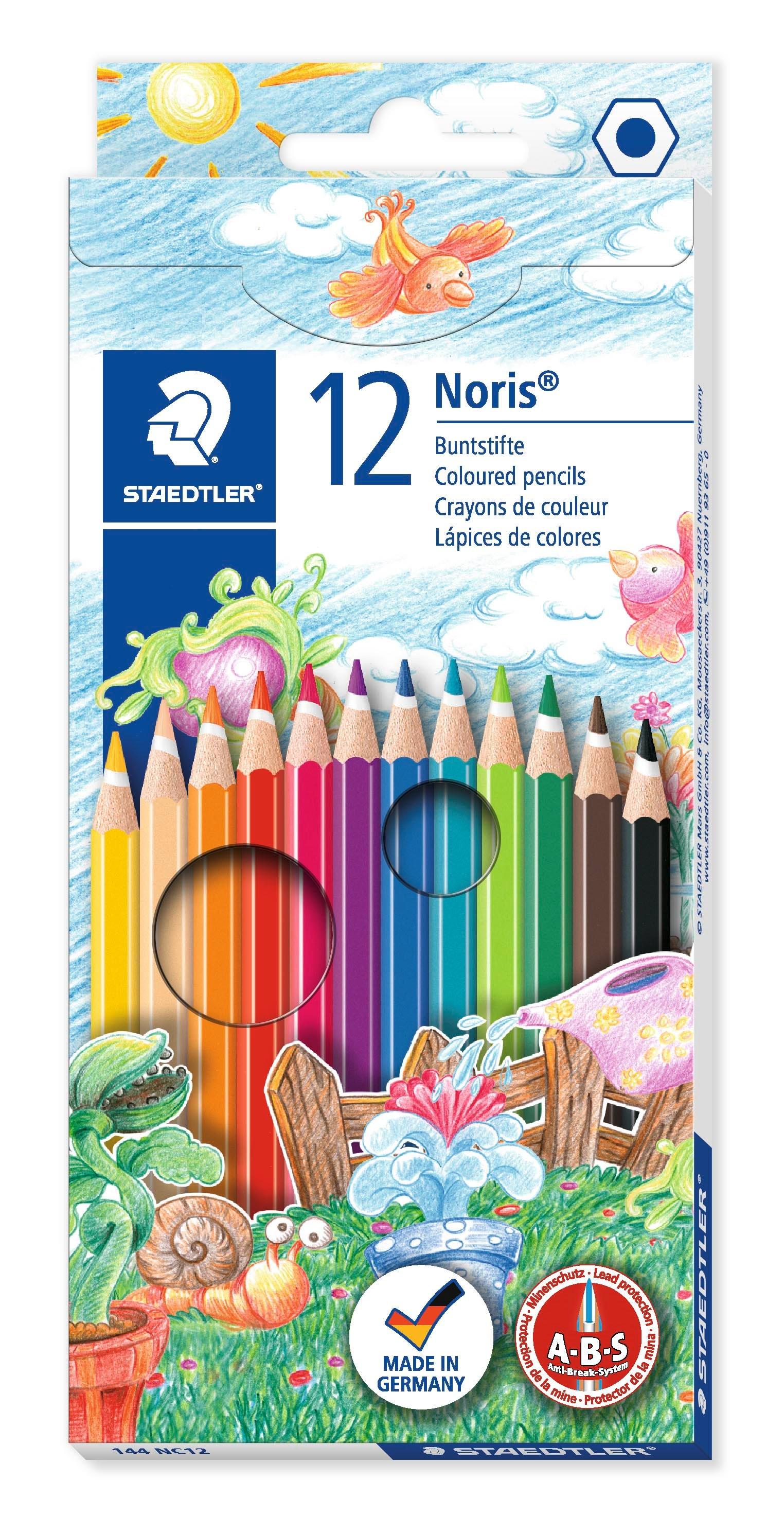 Staedtler Noris puuvärik. 144NC12, 12 värin sarja