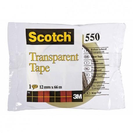 Scotch läpinäkyvä teippi 550, 12mm x 66m, 12kpl/ltk, 3M7100033437