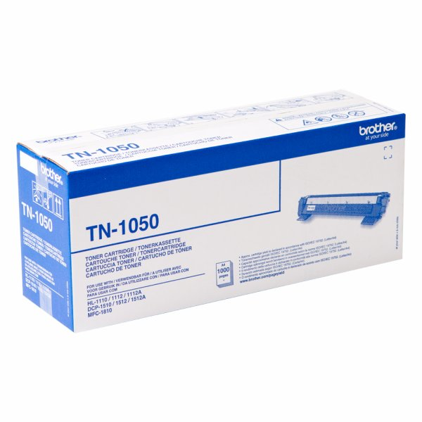 TN1050 Black, Brother DCP-1510, 1512, 1610, 1612, HL-1110, 1112, 1210, 1212, MFC-1810, 1910