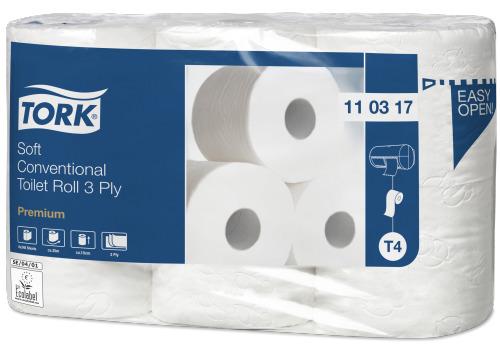 Tork 110317 T4 Premium WC-paperi valkoinen, 42 rll/sk erittäin pehmeä