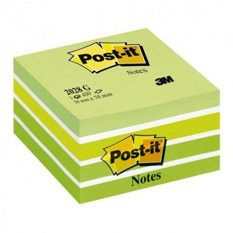 Post-it viestilappukuutio, pastellivihreä 76x76mm, 2028G