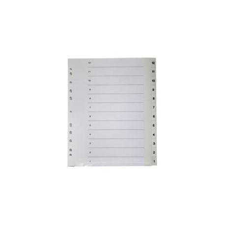 Välilehti 12-1 Valkoinen, Muovi 14201 / 30 kpl/ltk