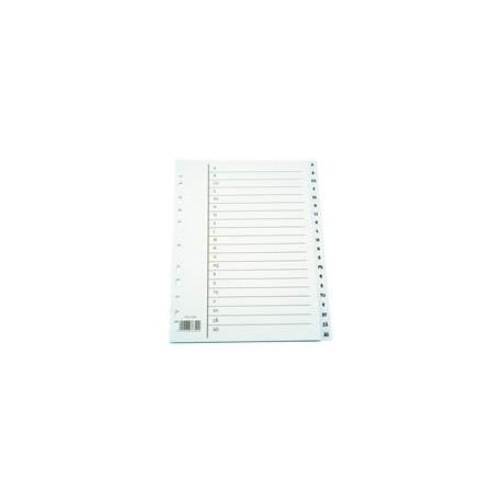 Välilehti-A4 1-10 valkoinen kartonki 10/ltk 1305940