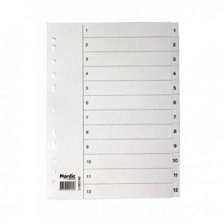 Välilehti-A4 NO 1-6 kartonki 20/ltk 1158200