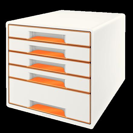 Leitz WOW Cube vetolaatikosto, 5-os. oranssi