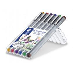 Staedtler Pigment Liner 6-v sarja 0,4mm, 6 kynää/srj