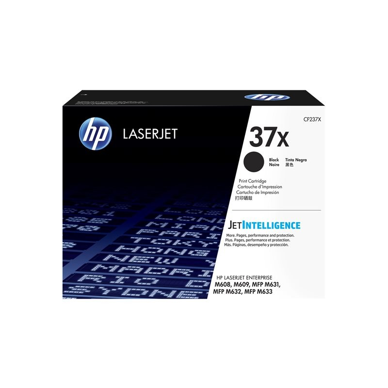 CF237X black 25.000 sivua, HP LaserJet Enterprise M608, M609, MFP M633; LaserJet Enterprise Flow MFP M633