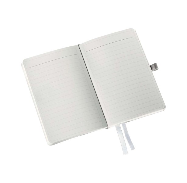 Muistikirja Leitz Style A6, kk viivat, valk.