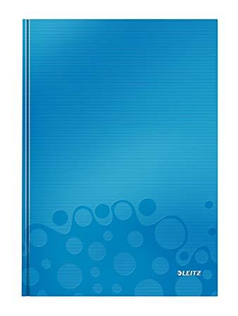 Muistikirja Leitz WOW A4 80s., kova kansi, viivat, sininen