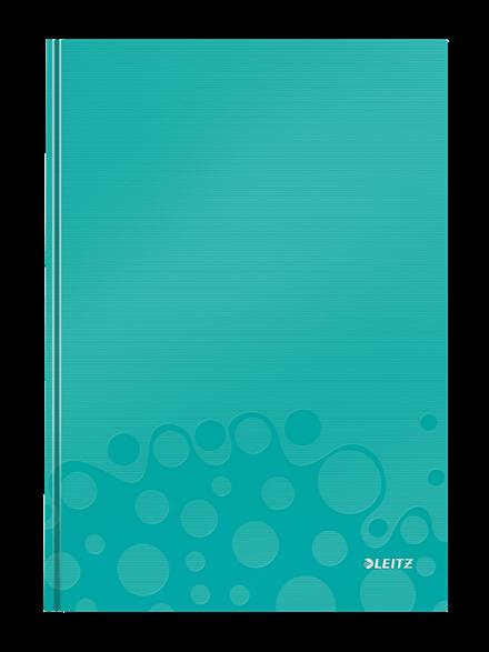 Muistikirja Leitz WOW A4 80s., kova kansi, viivat, jäänsininen