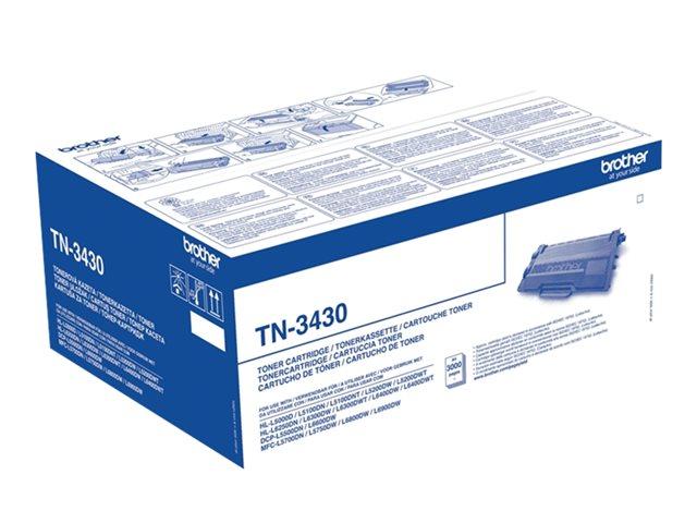 Brother TN3430 Black, Brother HL-L5000, L5050, L5100, L5200, L6450, MFC-L5700, L5750, L6800, L6900, L6950, L6970