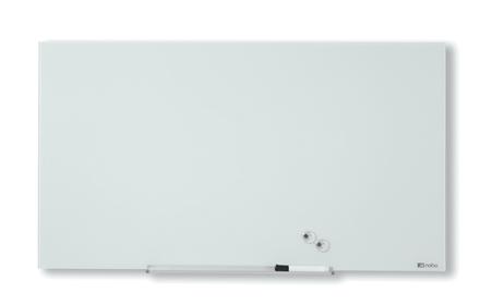 Nobo Widescreen lasitaulu 57'', 1260 x 710 mm, valkoinen