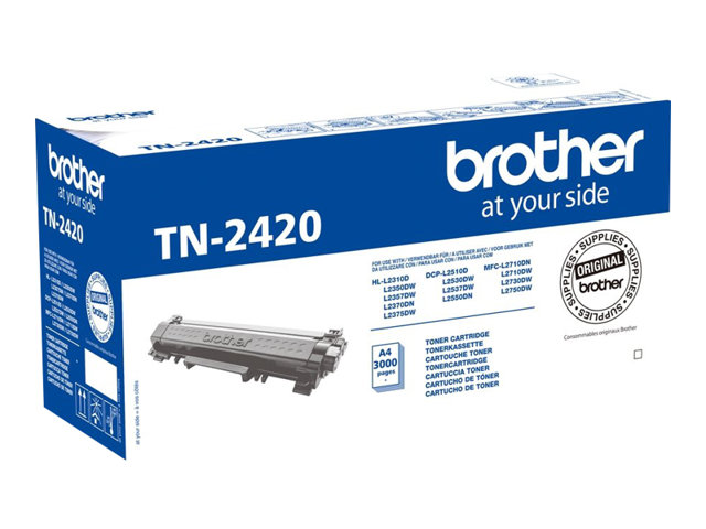 TN2420 Black, Brother DCP-L2510, L2530, L2550, HL-L2350, L2370, L2375, MFC-L2710, L2713, L2730, L2750