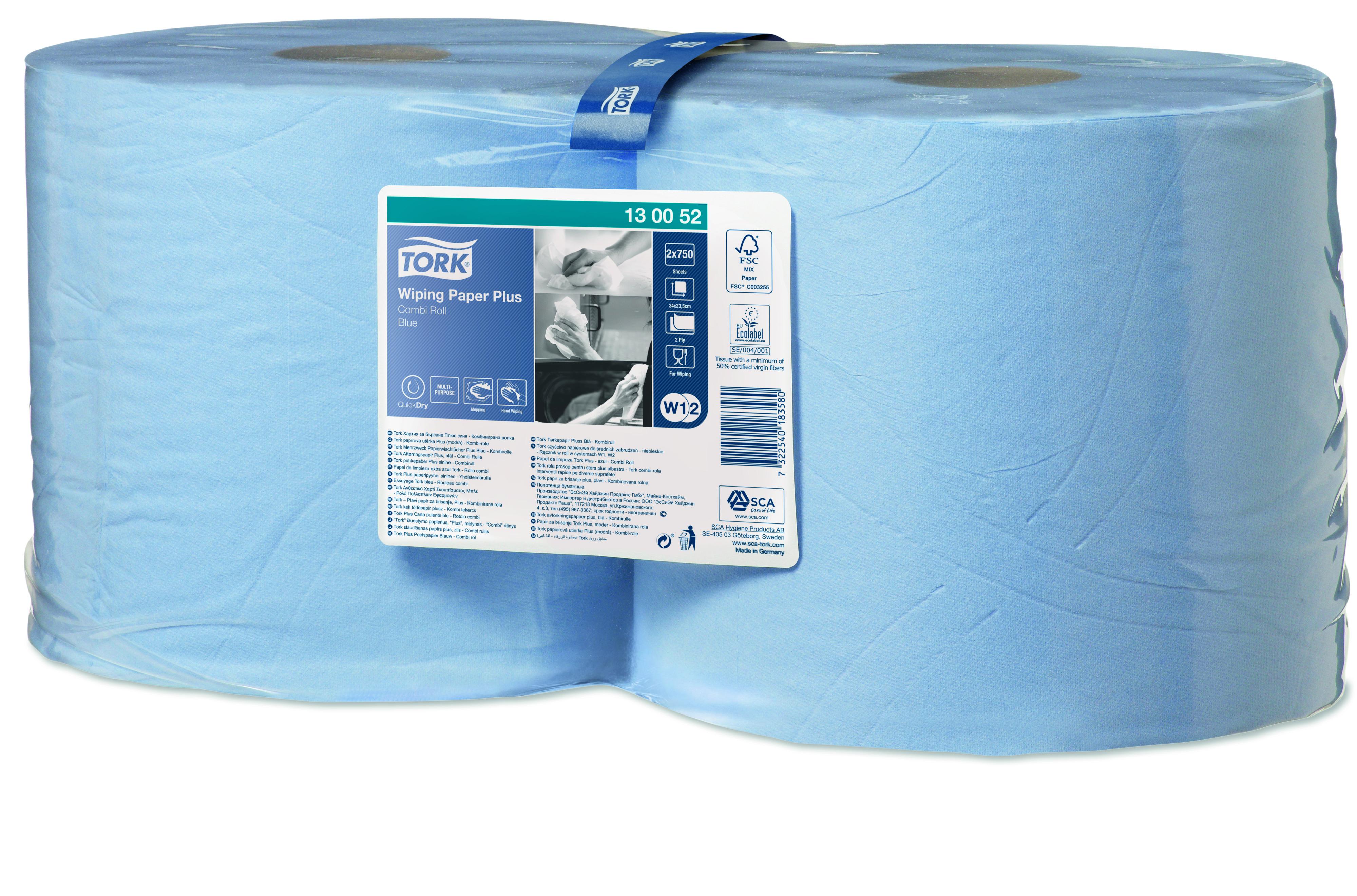 Tork 130052 premium sininen pyyhe W2/W1