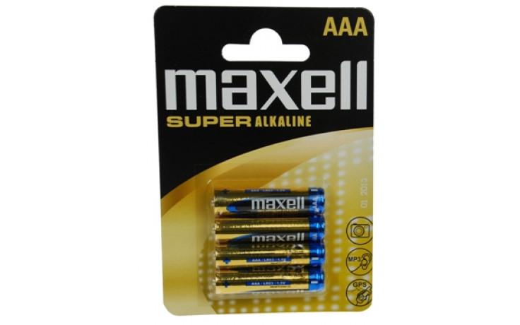 Paristo Super alkaline Maxell LR03 AAA 4-pack