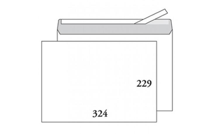 Kirjekuori C4 (229x324) valkoinen, tarrasuljenta, ilman ikkunaa, 500kpl/ltk / 1530