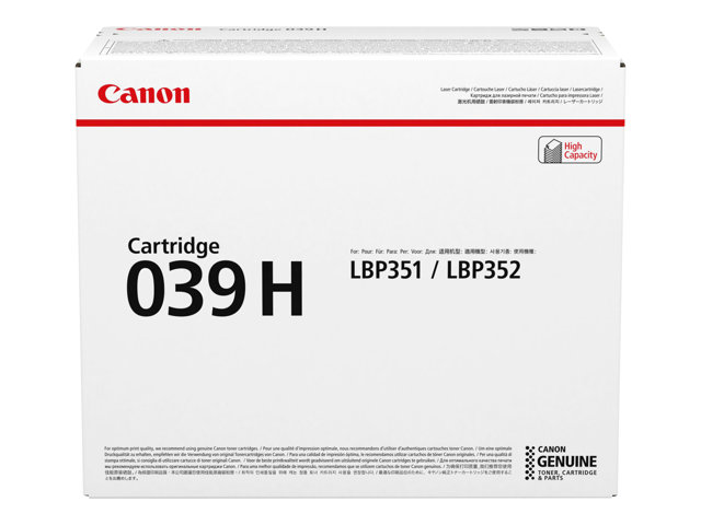 Canon CRG 039H black, 25 000 s.