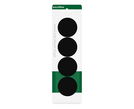 Magneetti 40mm Musta / 4 kpl/pkt