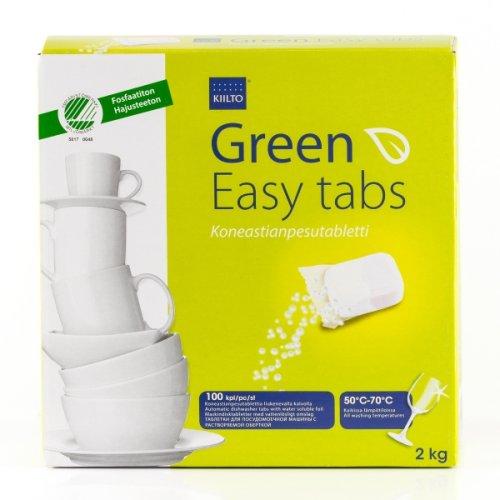 Kiilto Green Easy MD2 Konetiskitabletti, 100 kpl/pkt