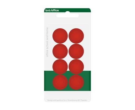 Magneetti 20 mm punainen 8 kpl/pkt
